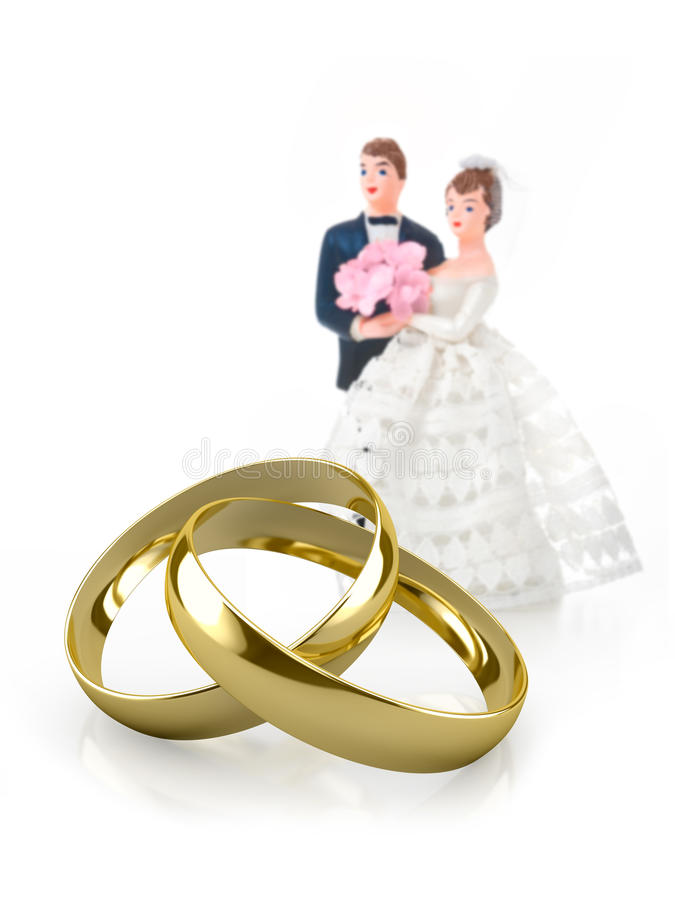 Anneaux de mariage illustration stock