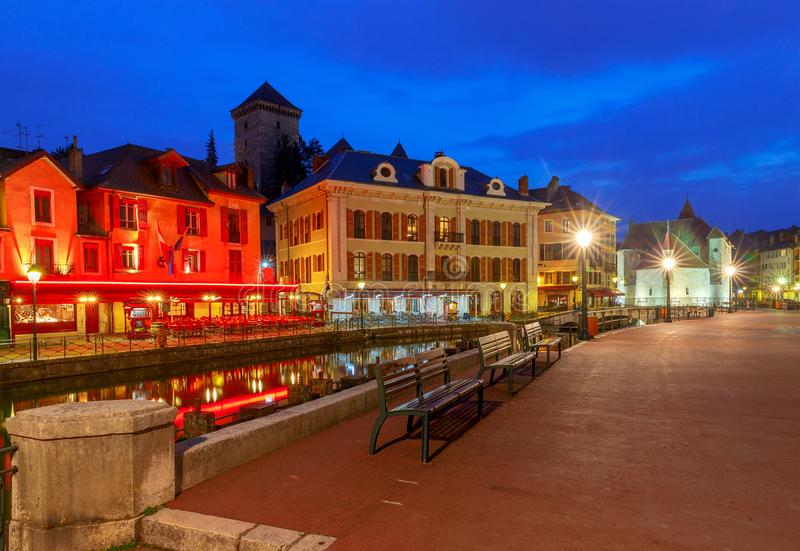Annecy πόλη παλαιά στοκ φωτογραφία