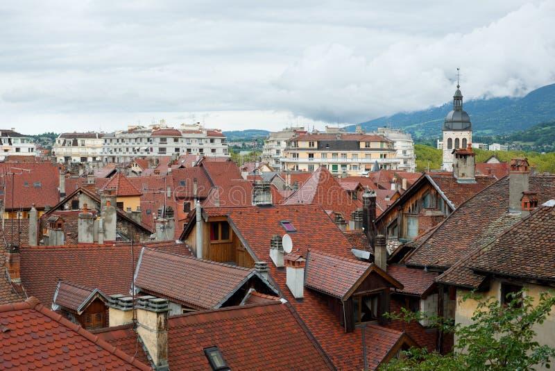 Annecy en día nublado foto de archivo libre de regalías