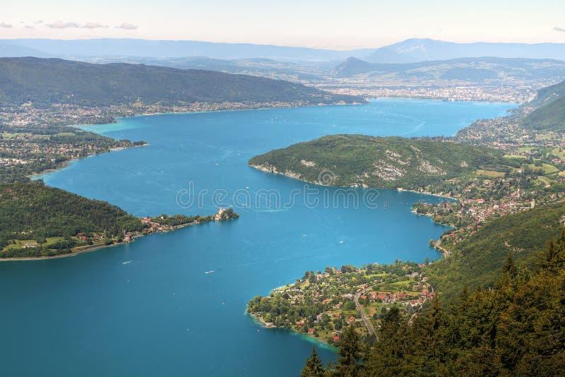annecy france lake royaltyfria foton