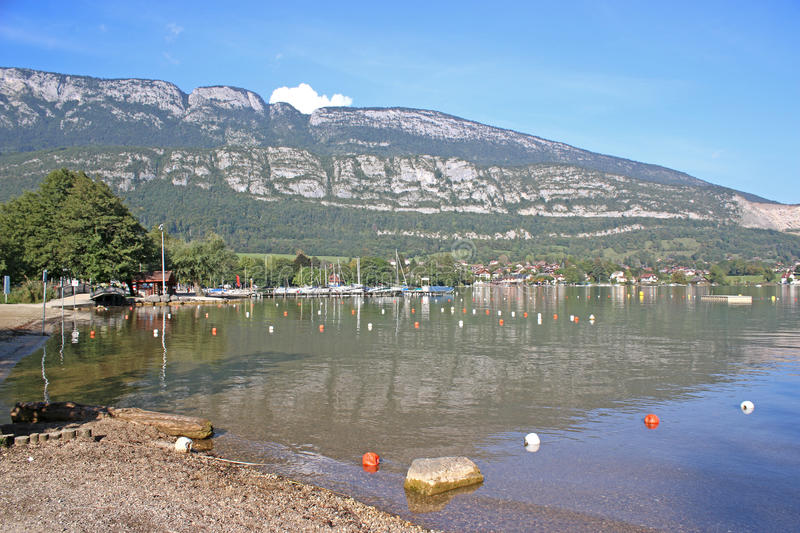 annecy france lake royaltyfria bilder