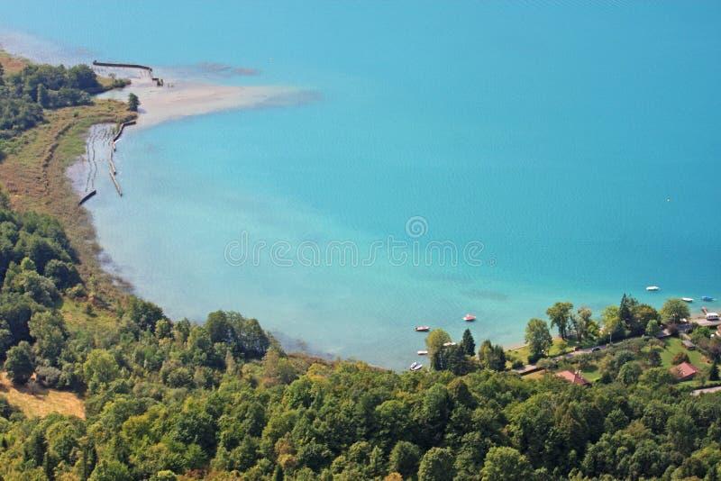 annecy france lake fotografering för bildbyråer
