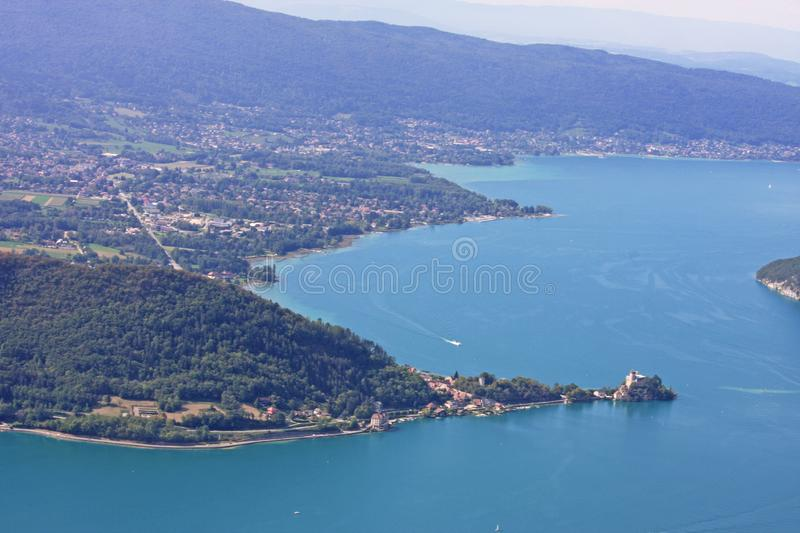annecy france lake royaltyfri fotografi