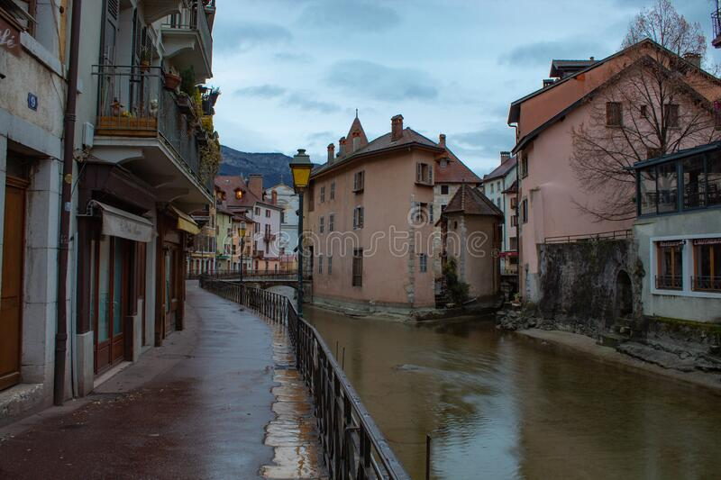 Annecy France street view stock photography