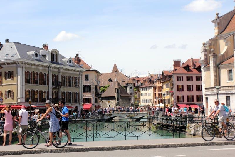 Annecy, Frankrijk stock foto's