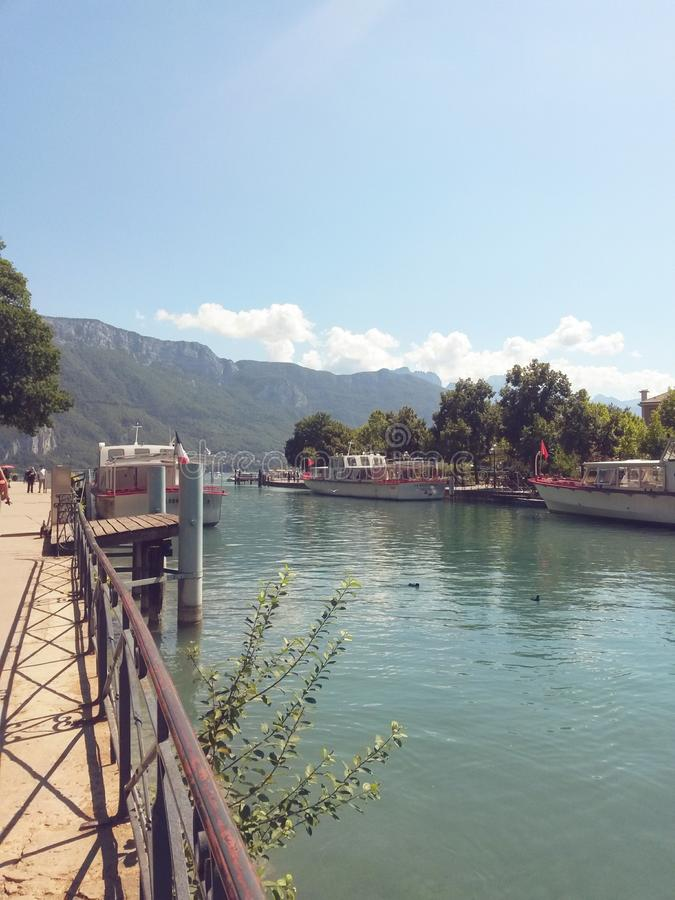 Annecy lake stock image