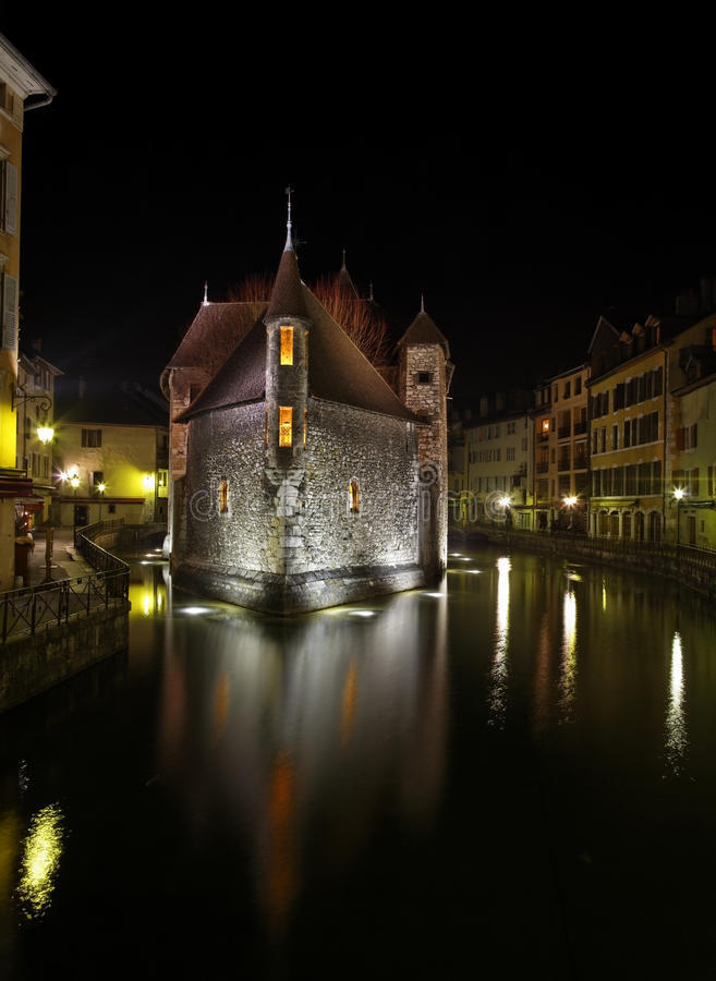 Download Annecy by night editorial photography. Image of thiou - 18900017