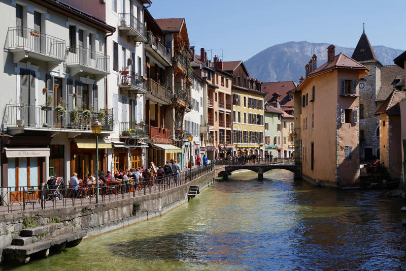 Annecy old city center editorial image Image of alps 53230895