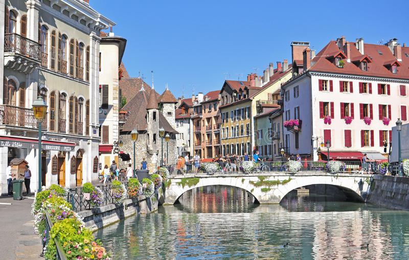 Annecy old town France editorial stock photo Image of french