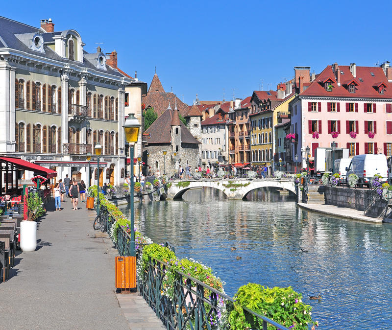 Annecy old town France editorial photography Image of french