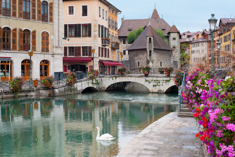Annecy in september. Wonderful view of Annecy and Palais de l'Isle in september. GPS information is in the file royalty free stock photos