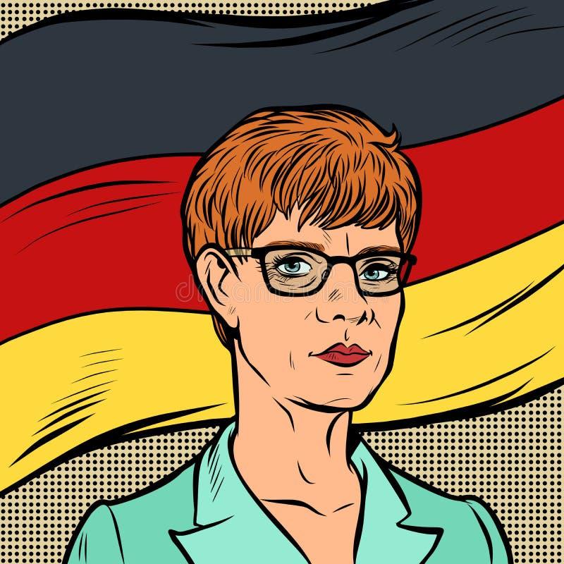 Annegret Kramp-Karrenbauer tysk politiker stock illustrationer