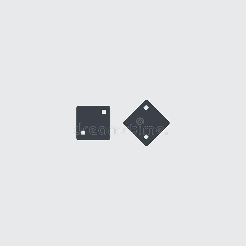 Annerisca la tavola reale piana taglia l'icona a cubetti di vettore illustrazione vettoriale
