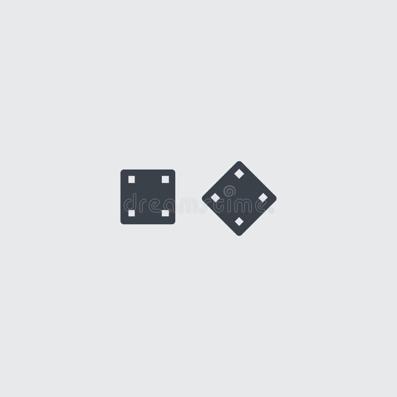 Annerisca la tavola reale piana taglia l'icona a cubetti di vettore royalty illustrazione gratis