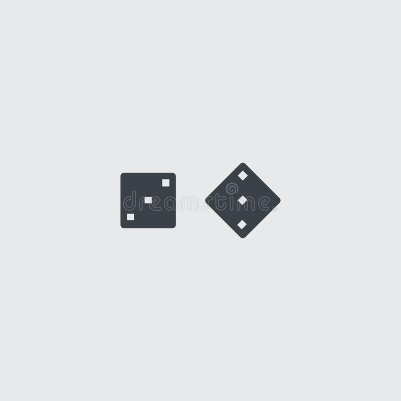 Annerisca la tavola reale piana taglia l'icona a cubetti di vettore illustrazione di stock