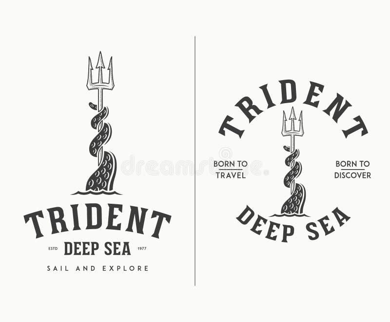 Annerisca sul viaggio per mare profondo del tridente bianco e scopra royalty illustrazione gratis