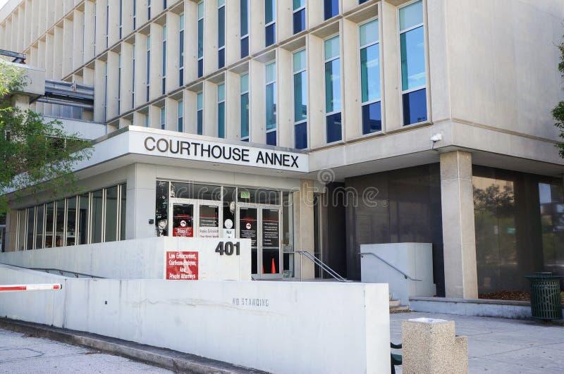 Annesso criminale del tribunale, Tampa del centro, Florida, Stati Uniti immagini stock libere da diritti