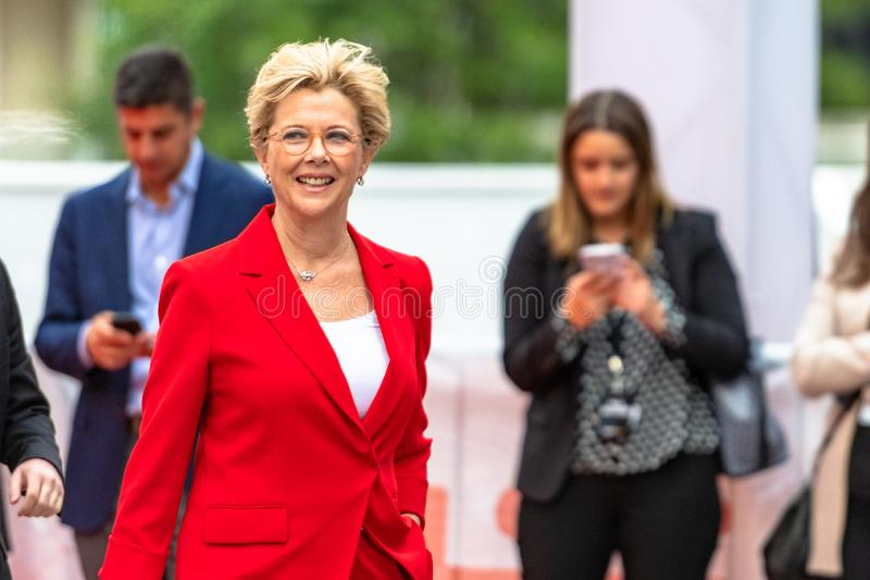 TIFF 2018, Toronto International Film Festival. Annette Bening, actress. The Toronto International Film Festival is one of the most important in the world royalty free stock image