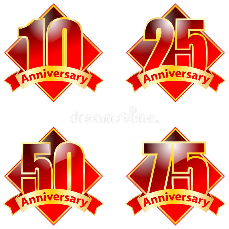 Anneversary. Vector logo of anniversary on white background