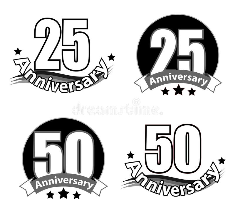 Anneversary logo vector illustration