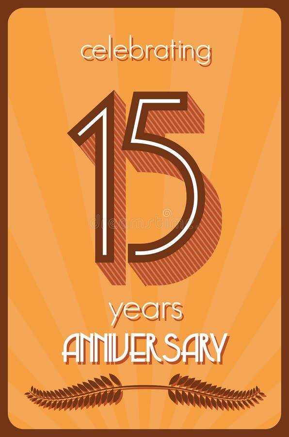 15 anni di anniversario illustrazione vettoriale