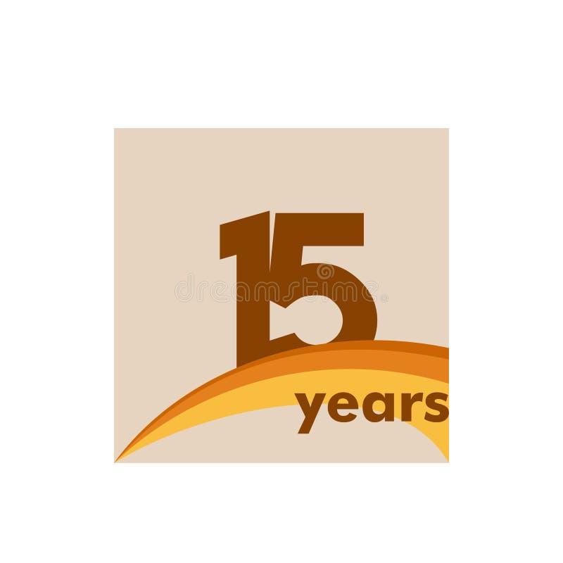 15 anni di anniversario di celebrazione di vettore del modello di illustrazione di progettazione royalty illustrazione gratis