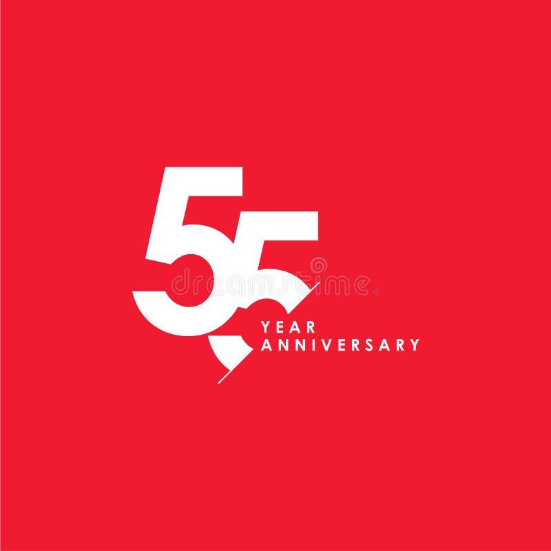65 anni di anniversario di vettore del modello di illustrazione di progettazione royalty illustrazione gratis