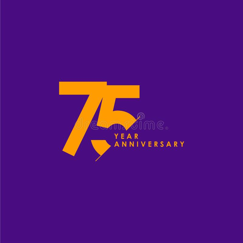 75 anni di anniversario di vettore del modello di illustrazione di progettazione royalty illustrazione gratis