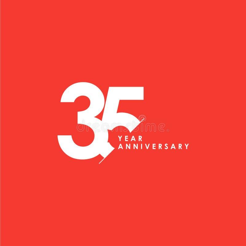 35 anni di anniversario di vettore del modello di illustrazione di progettazione royalty illustrazione gratis