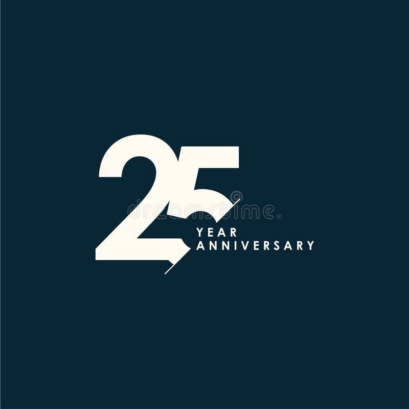 25 anni di anniversario di vettore del modello di illustrazione di progettazione illustrazione vettoriale