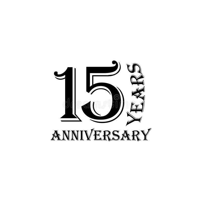 15 anni di segno di anniversario Elemento del segno di anniversario Icona premio di progettazione grafica di qualità Segni ed ico royalty illustrazione gratis