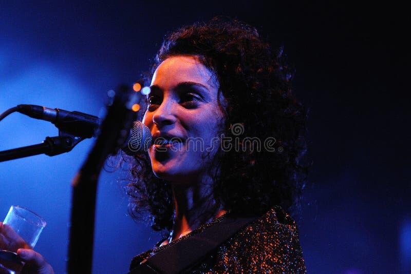 Annie Clark, vocalista de St. Vincent fotos de stock royalty free