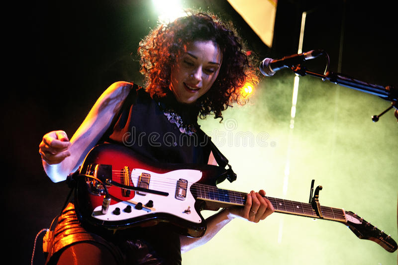 Annie Erin Clark, frontwoman of St. Vincent (band) royalty free stock image