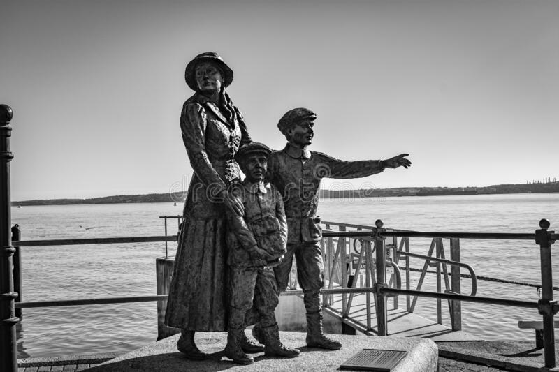 Annie Moore. January 1, 1877 - 1923 was the first immigrant to the United States to pass through the Ellis Island facility in New York Harbor. She departed from stock images