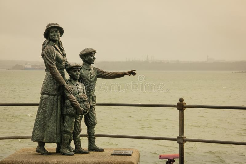 Annie Moore Monument Cobh ierland royalty-vrije stock foto