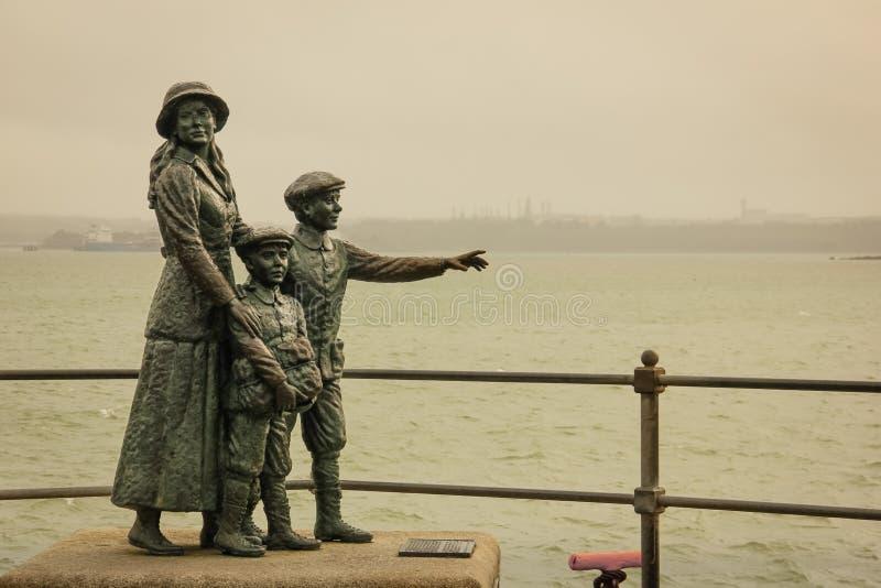 Annie Moore zabytek Cobh Irlandia zdjęcie royalty free
