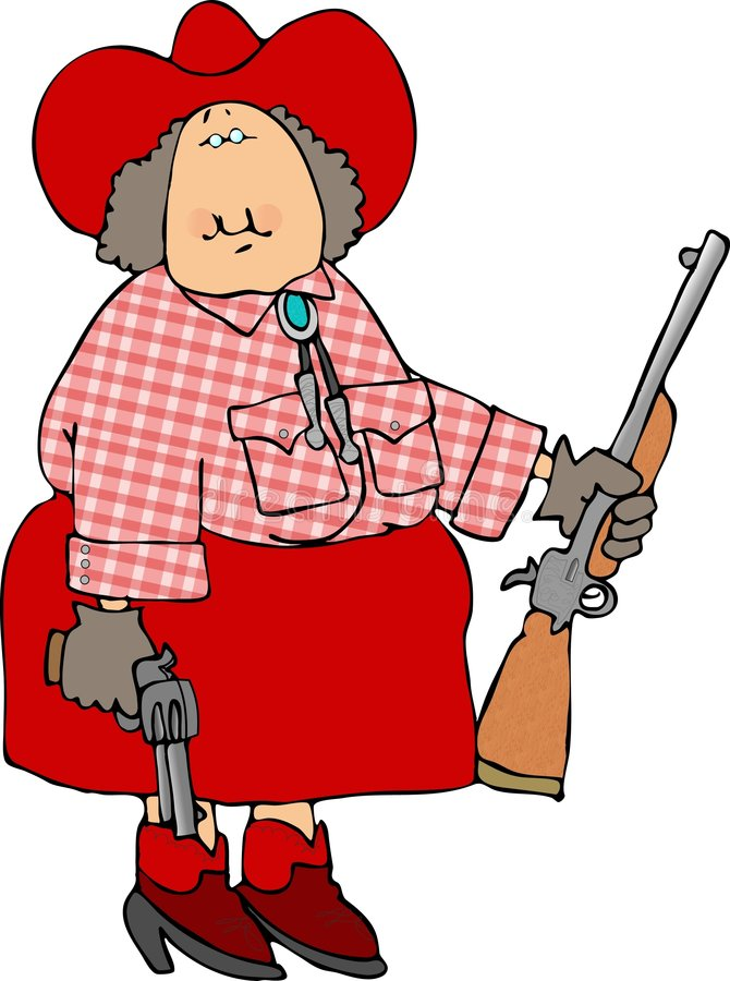 Annie Oakley royalty free illustration