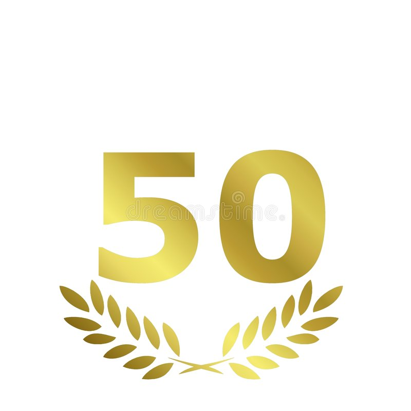 anniversaire 50 illustration libre de droits