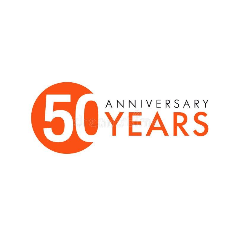 Anniversaire 50 ans illustration libre de droits