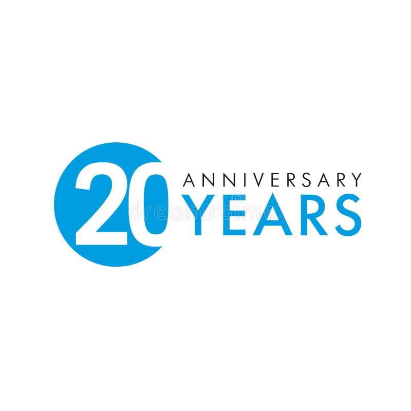 Anniversaire 20 ans illustration libre de droits