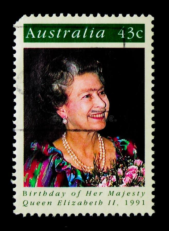 Anniversaire de la Reine Elizabeth II, serie, vers 1991 images stock