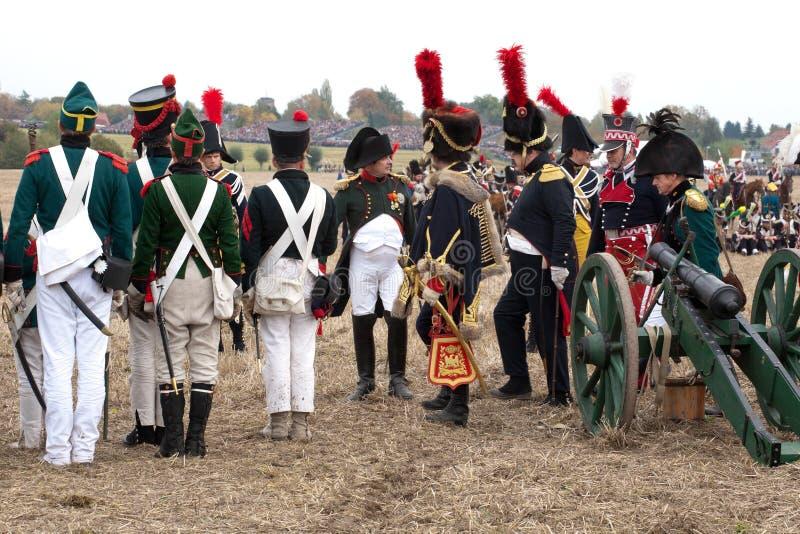 Anniversaire de Leipzig 200th de la bataille des nations images stock