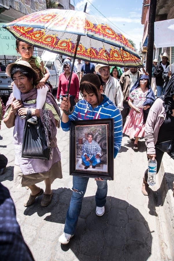 Anniversaire du soulèvement dans Cheran, Mexique photographie stock