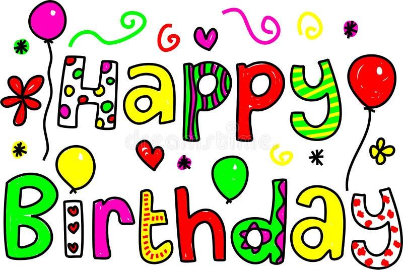 anniversaire heureux illustration stock