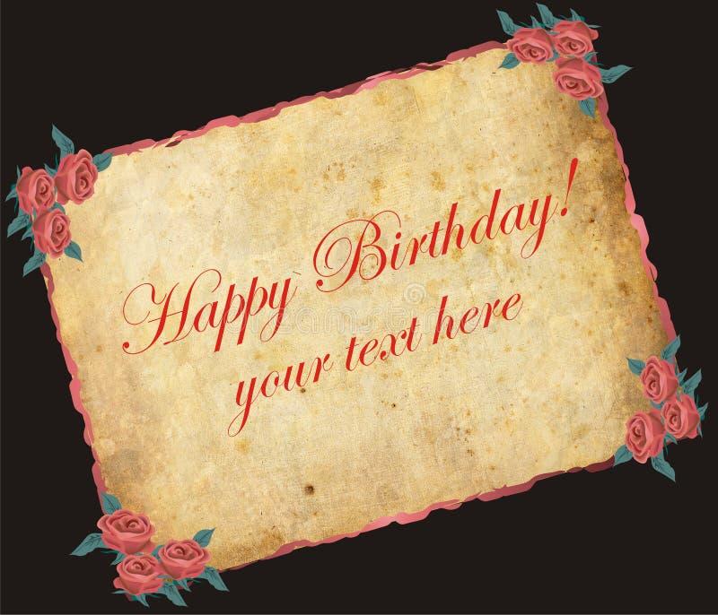 anniversaire heureux illustration libre de droits