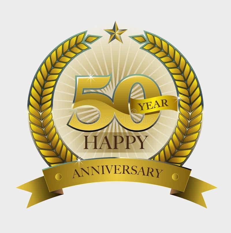 anniversaire heureux de 50 ans illustration libre de droits