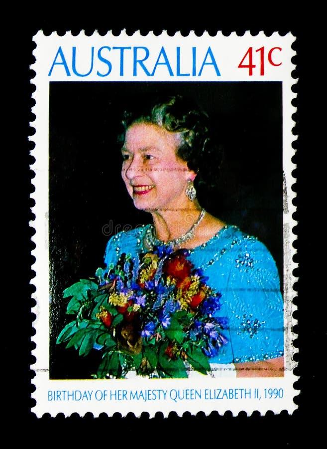Anniversaire, serie de la Reine Elizabeth II, vers 1990 photos libres de droits