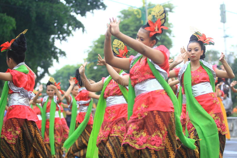 Anniversaire Sragen de ville de carnaval photos stock
