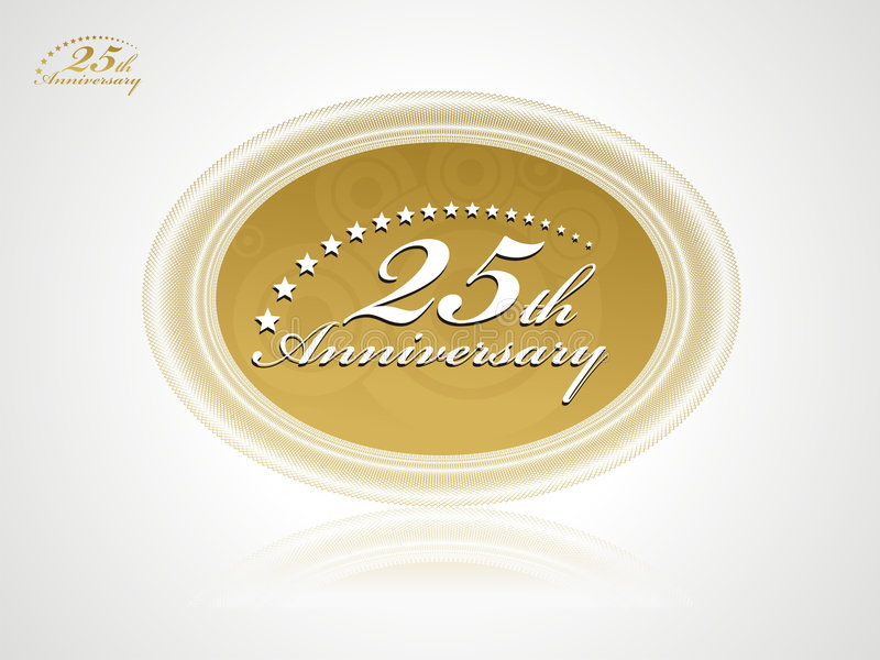 anniversario 25 royalty illustrazione gratis