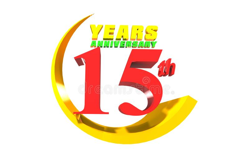Anniversario 15 anni di 3D royalty illustrazione gratis